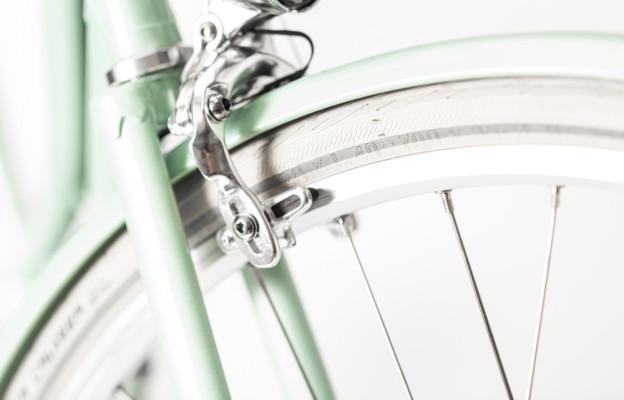 Rakete Damenrad Corniche Pfefferminz Detail Bremsen