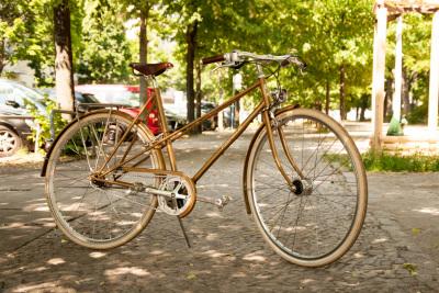 Der Gewinn: Das neue Hebammen-Damenrad RAKETE Mixte in Perlgold